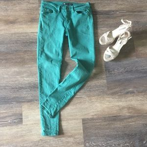 Levi's 535 Leggings Aqua Jeans Size 9 Like New